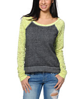 Billabong Moana Grey & Yellow Geo Print Crew Neck Sweatshirt