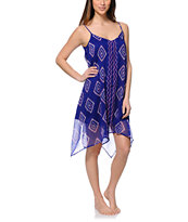 Billabong Rapid Waves Blue Chiffon Dress