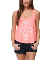 Billabong Sandy Hair Coral Keyhole Tank Top