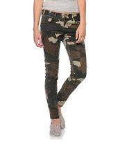 Billabong Seeker Camo Print Skinny Jeans