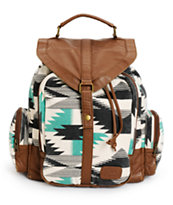 Billabong Take Me With You Tribal Print Rucksack Backpack