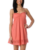 Billabong Turn It Up Coral Strapless Dress