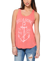 Billabong West Coast Surf Light Red Tank Top