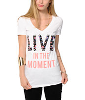 Bitter Sweet Live In The Moment V-Neck Tee