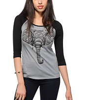 Bitter Sweet Patternphant Baseball T-Shirt