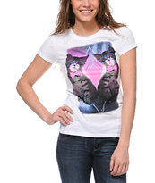 Bitter Sweet Space Kitties White T-Shirt