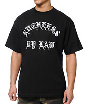 Black Scale Ruthless By Law Black Tee Shirt