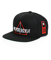 Black Scale Team Snapback Hat