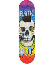 Blackout Sketchy Skull 8.0 Skatboard Deck