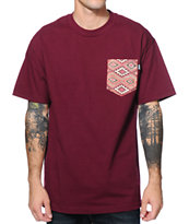 Bohnam Delta Maroon Pocket T-Shirt