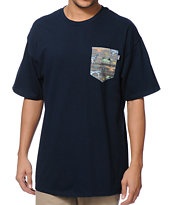 Bohnam Gavel Navy Pocket Tee Shirt