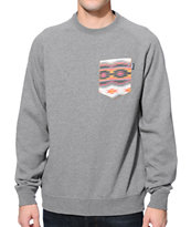 Bohnam Sahara Grey Crew Neck Pocket Sweatshirt