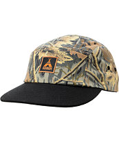 Bohnam Supply Co Timber Camo & Black 5 Panel  Hat