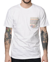 Bohnam Supply Co. Native White Pocket Tee Shirt