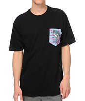 Bohnam Supply Co. Trippy Bass Black Pocket Tee Shirt