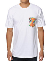 Bohnam Trippy Cobra White Pocket Tee Shirt