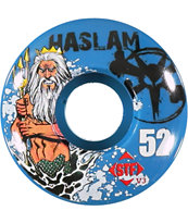Bones Chris Haslam Blue Poseidon 52mm STF Skateboard Wheels