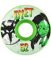 Bones Dyet STF Rasta 52mm Skateboard Wheels