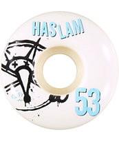 Bones Haslam Numbers STF 53mm Skateboard Wheels