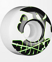 Bones Icons Green & White 53mm Skateboard Wheels