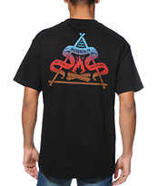 Bonham Campfire Black Pocket Tee Shirt
