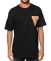Bonham Pizza Black Pocket Tee Shirt