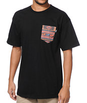 Bonham Ridge Black Pocket Tee Shirt