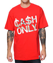 Booger Kids Cash Only Red Tee Shirt