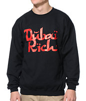 Booger Kids Dubai Rich Black Crew Neck Sweatshirt