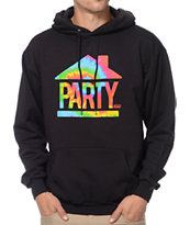 Booger Kids House Party Tie Dye & Black Hoodie