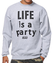 Booger Kids Life Is A Party Grey Crew Neck Sweatshirt