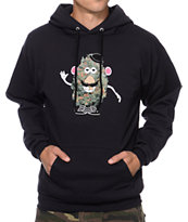 Booger Kids Mr Pot Head Black Pullover Hoodie