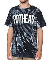 Booger Kids Pot Head Black Tie Dye Tee shirt