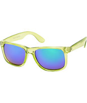 Bravo Clear Lime Green & Green Mirror Sunglasses