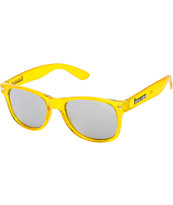 Brigada Lawless Highlighter Yellow Mirror Lens Sunglasses