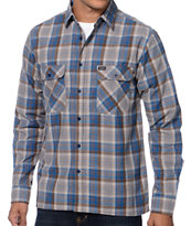 Brixton Archie Blue Plaid Flannel Shirt