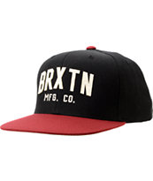 Brixton Arden II Black & Red Snapback Hat