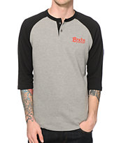 Brixton Barley Thermal Henley Baseball T-Shirt