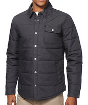 Brixton Cass Charcoal Quilted Casual Jacket