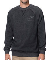 Brixton Coda Black Fleece Crew Neck Sweatshirt