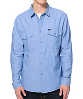 Brixton Davis Blue Button Up Woven Shirt