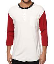 Brixton Detroit Henley Pocket Baseball T-Shirt