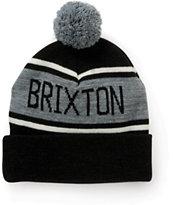 Brixton Fairmont Black Pom Beanie