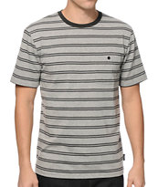 Brixton Fraction Stripe Pocket T-Shirt