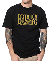 Brixton Girder Black & Gold Tee Shirt