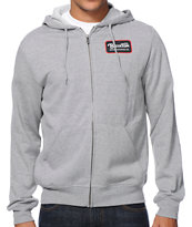Brixton Harrison Grey Zip Up Hoodie