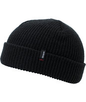 Brixton Heist Black Roll Up Beanie