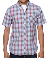 Brixton Howl Blue Plaid Short Sleeve Button Up Shirt