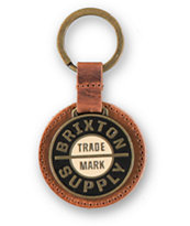 Brixton Nova Leather & Metal Keychain