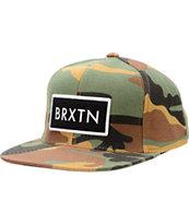 Brixton Rift Camo Snapback Hat